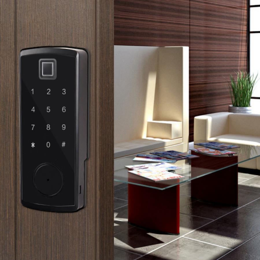 Bluetooth empreinte digitale mot de passe serrure de porte lecteur de carte clavier électronique numérique serrures intelligentes cerradura puerta