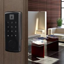 цены на Bluetooth Fingerprint Password Door Lock Card Reader Electronic Keypad Digital Smart Locks cerradura puerta  в интернет-магазинах
