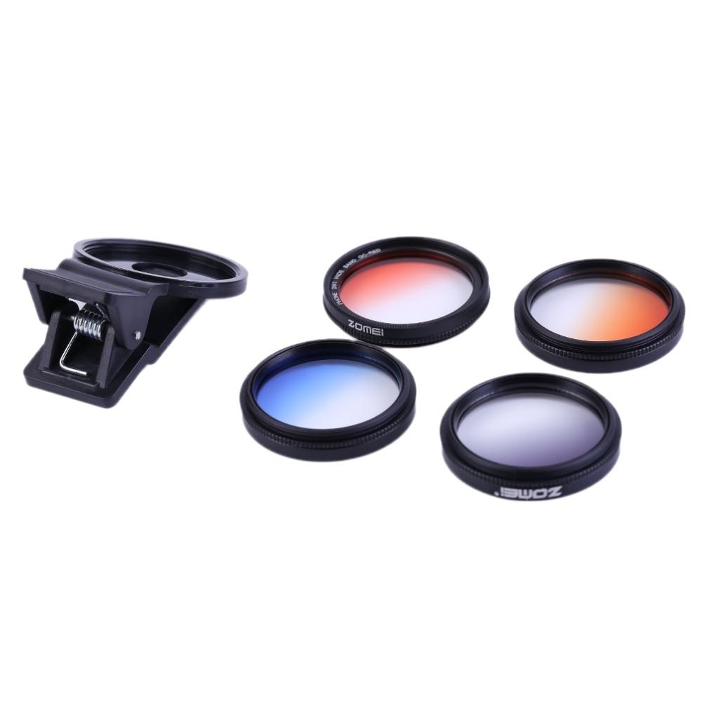 Universal MATEM4 5 In 1 Mobile Phones 37MM Filter Lens Sets Kits 4 Filter Lens Clip For Sony For Huawei