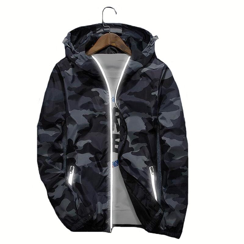CKAHSBI Hiking Jackets Outdoor Sports Jackets Breathable Camouflag Jackets Softshell Men Anti-sweat Unisex Hooded Forest Coats