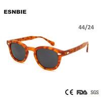 ESNBIE 2017 Sunglasses Men Round Vintage Rivet Shades Retro Small Sun Glasses Women Oval Brand Designer