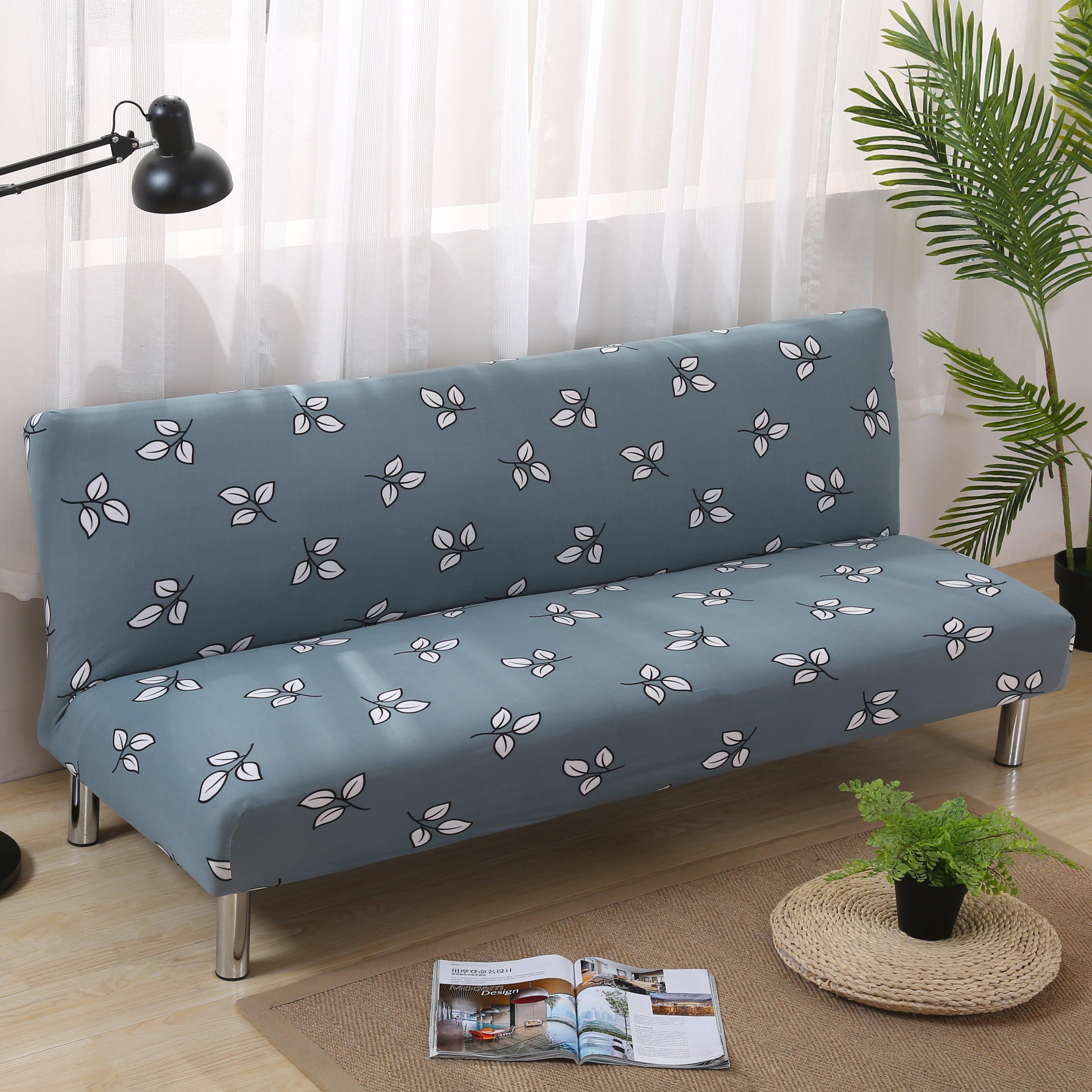 Stretch Sofa Covers Elastic No Handrail Folding Sofa Bed Cover