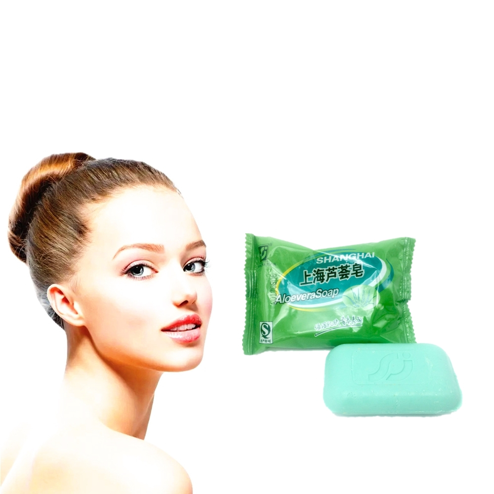 2019 Hot Sale 100% Pure Natural ALOEVERA Soap, Massage, Tighten Pores , Make Hair Smooth, Whitening