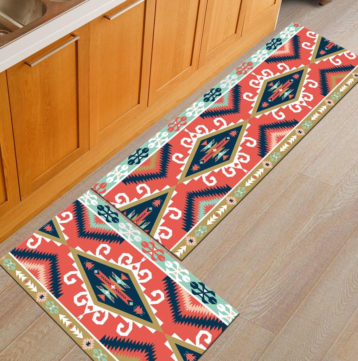 Современный геометрический Коврик для кухни, Противоскользящий коврик для ванной комнаты, домашний Коврик для прихожей/прихожей, коврик для шкафа/балкона, креативный ковер - Цвет: 5