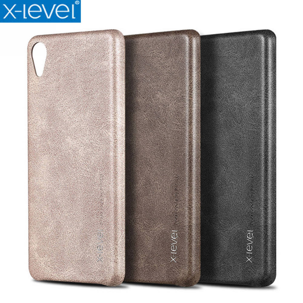 X Level Vintage Phone Case For Sony Xperia XZ2 XZ2 Premium Luxury PU Leather Back Case Cover for Sony XZ2 Compact|Fitted Cases| |  - title=