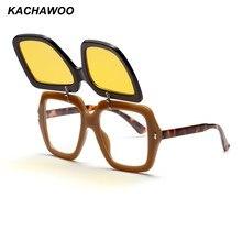 06bdcb9b85 Kachawoo al por mayor 6 piezas cuadrados gafas de sol hombres vintage negro  rojo moda flip up gafas de sol para las mujeres play.