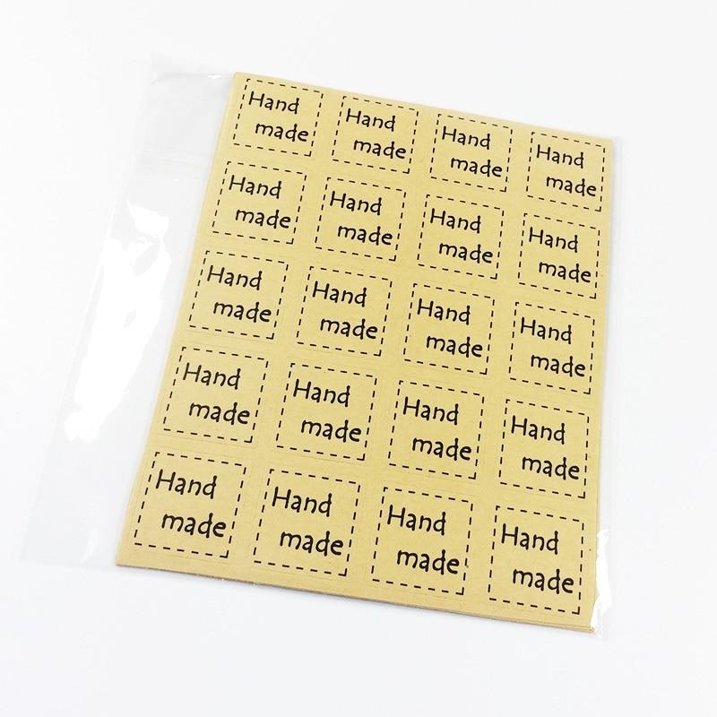 Купить с кэшбэком 240pcs Handmade Scrapbooking Paper Labels Seal Sticker, DIY Gift Sticker