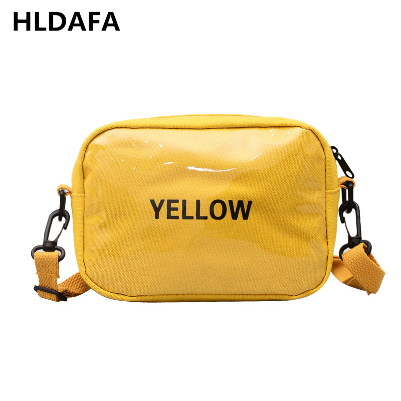 HLDAFA 2018 New Woman Fashion Casual Shoulder Bag Canvas Crossbody Bags Letter Flap Female Small Storage Messenger Bag Daily Bag