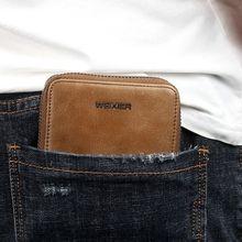 Men Leather Short Wallet Credit Card Holder Purse Zipper Money Pockets Bag