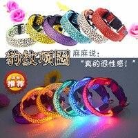 Led Luminous Pet Usb Charge LED USB Charging Luminous Pet Collar Collar Fluorescent Luminous Leopard Dog
