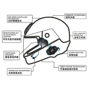 Image 3 - Moto A1 IPX6 Waterproof Boomless Mic Helmet Bluetooth Headset Motorcycle Comunicador Capacete Headphone Speaker for 2 Phones GPS