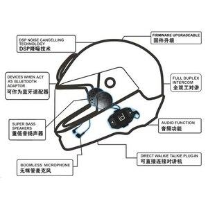 Image 3 - Moto A1 IPX6 su geçirmez Boomless Mic kask Bluetooth kulaklık motosiklet Comunicador Capacete kulaklık hoparlör 2 telefonlar için GPS