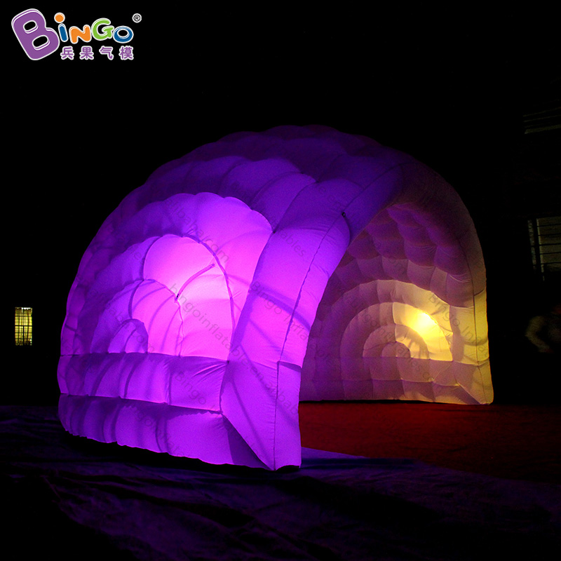 5.5X4X3.5 meters LED lighting inflatable tent dome , dome party tent , inflatable air dome tent for sale toy tent personal activity inflatable mobile pub tent for family party use
