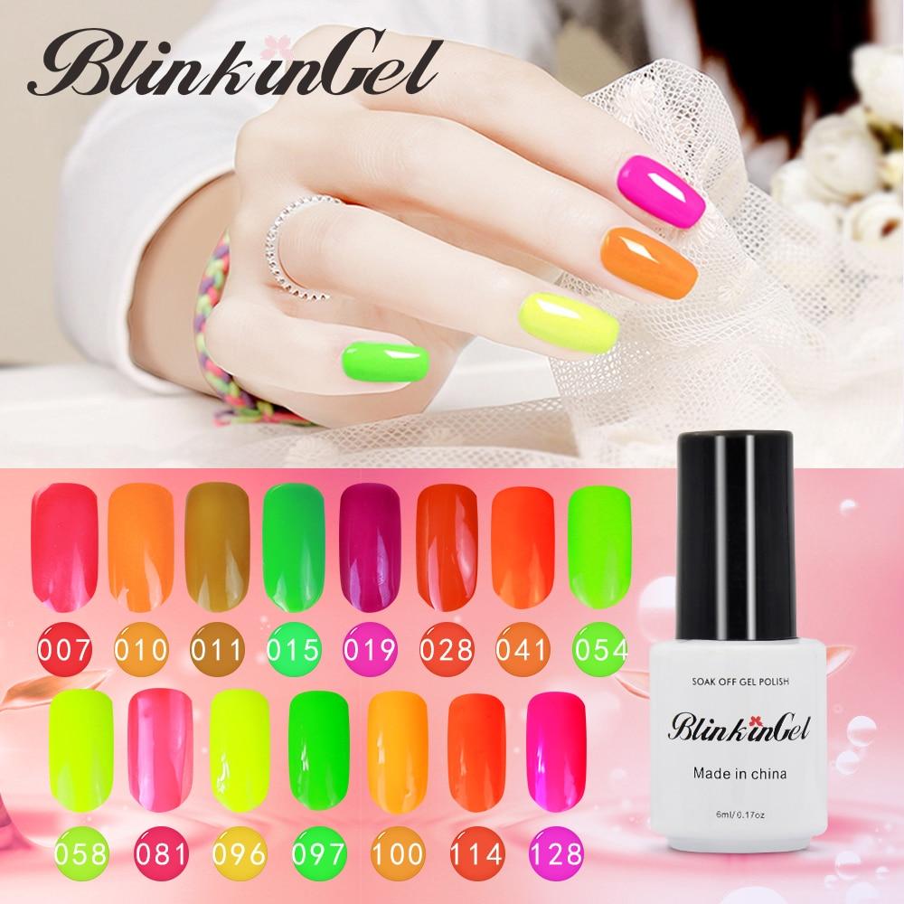 BlinkinGel Multi Shimmer Colorful Gel Nail Polish Glitter Neon Simple UV Nail Polishs Acrylic Fluorescence Nail Gel Polish Sale