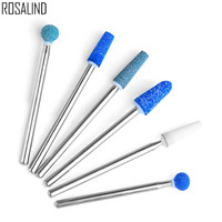 Roaslind 1PC Hot Blue Color Ceramic Stones Nail Dr ...