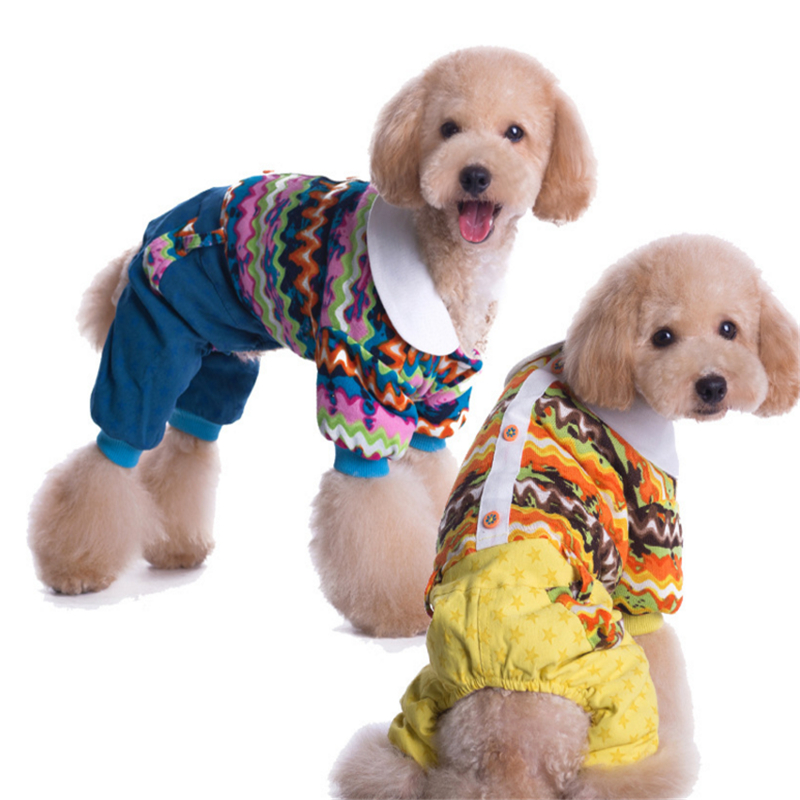 Pet Dog Coat Warm Clothes Winter Dog Clothes for Dogs Padded Jumpsuit Pants Costumes Clothing ZYF003