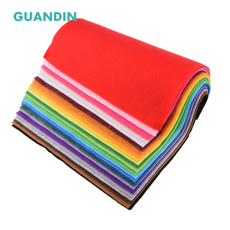 GuanDin,Mix Color Soft Felt/Polyester Nonwoven  Fabric/Thickness 1mm/for DIY Sewing Toys,Crafts Dolls/24pcs in 1 pack/30cmx30cmGuanDin,Mix Color Soft Felt/Polyester Nonwoven  Fabric/Thickness 1mm/for DIY Sewing Toys,Crafts Dolls/24pcs in 1 pack/30cmx30cm