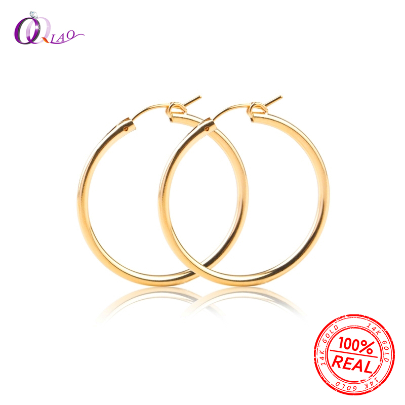 A Pair 14K Gold Filled Earring Hooks 15mm/19mm/22mm/29mm/35mm Gold Filled Clip Earrings For DIY Earring Making Jewelry Findings
