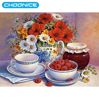 Diamond Embroidery Dining Table Still Life Fruit And Vase DIY 5d Decoration Pictures Picture By Numbers