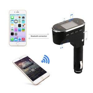 ЖК-дисплей беспроводной Bluetooth Автомобильный MP3-плеер fm-передатчик модулятор USB SD + пульт дистанционного управления Поддержка MP3/WMA/WAV/FLAC форма...