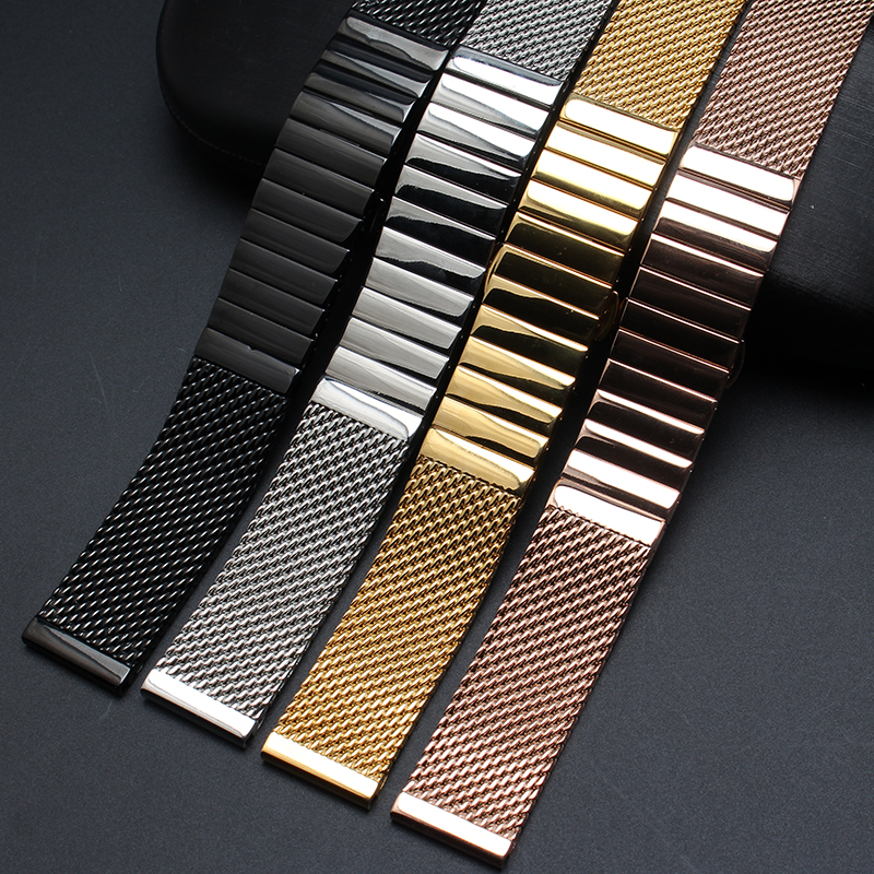 High quality Watchband Accessories Fashion Watches men straps bracelet 18m 20mm 22mm 24mm polished stainless steel