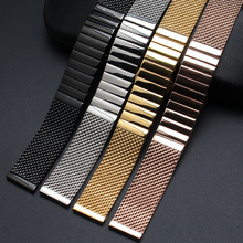 High quality Watchband Accessories Fashion Watches men straps bracelet 18m 20mm 22mm 24mm polished stainless steel metal black