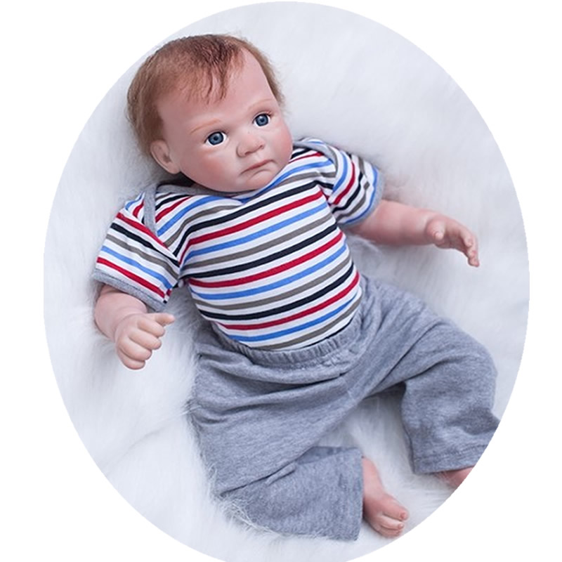Handsome Reborn Baby Boy 20 Inch Lifelike Silicone Vinyl Babies Realistic Doll Toy With Curved Mohair Kids Birthday Xmas GiftHandsome Reborn Baby Boy 20 Inch Lifelike Silicone Vinyl Babies Realistic Doll Toy With Curved Mohair Kids Birthday Xmas Gift
