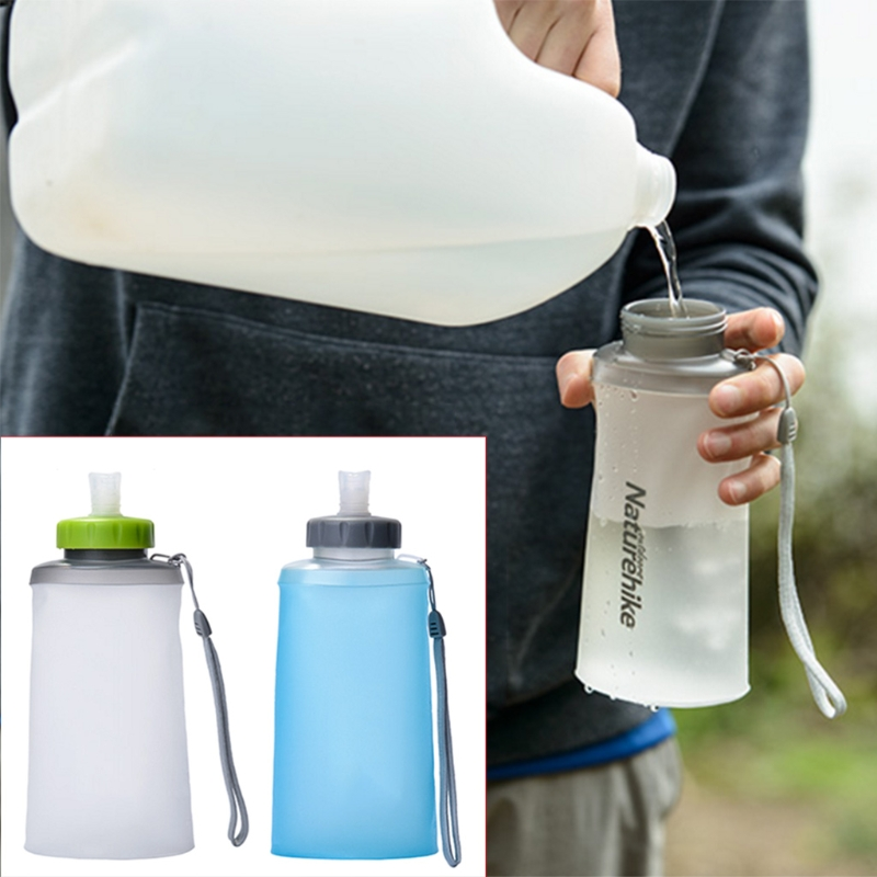 Portable Silicone Folding Water Bag Sport Camping Drink Kettle Bicycle Bottle #35/15W