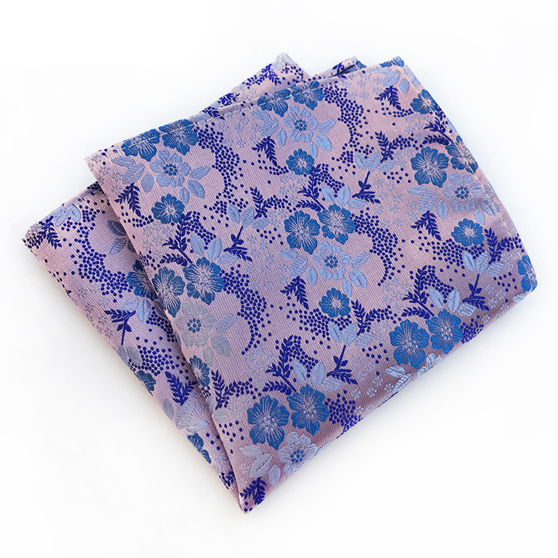 Mantieqingway Business Polyester Handkerchief For Mens Suit Pocket Square Wedding Party Hanky For Men Floral Print Pocket Towel