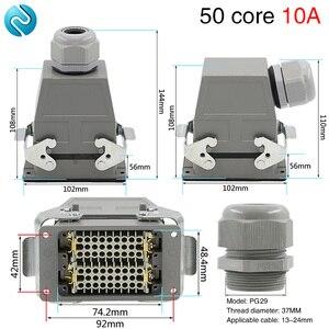 Image 1 - 50 コア長方形ヘビーデューティコネクタ HDC HDD 050 コールドプラグ工業用防水プラグソケット 10A