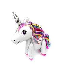 1pc Large 4D Unicorn Foil Balloons Party Decorations Birthday Decor Kids My Little Pony Supplies Toy