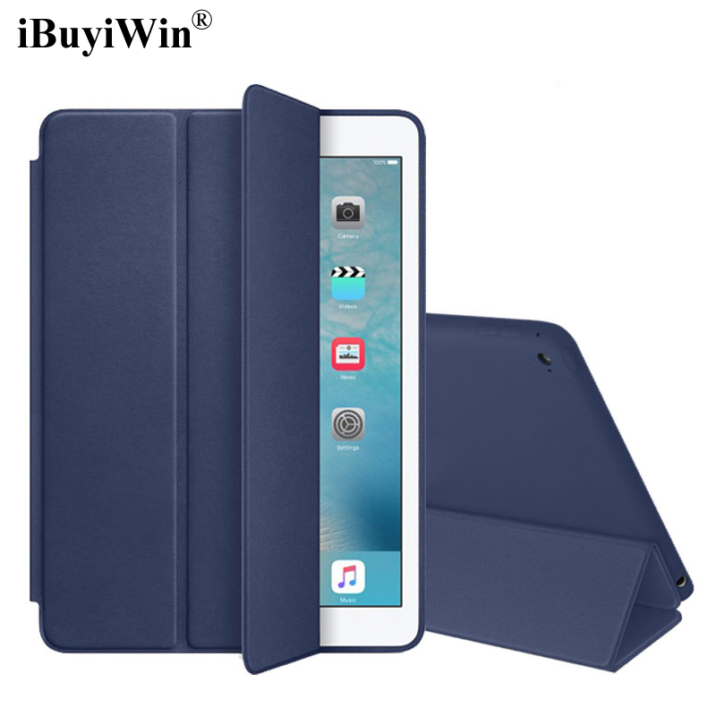 iBuyiWin Smart Cover Case for iPad Pro 9.7 Slim Magnet Folding Stand PU Leather Case for iPad Pro 9.7 2016 Auto Sleep/Wake+Film premium pu leather case for ipad pro 9 7 2016 360 full protection smart stand auto sleep