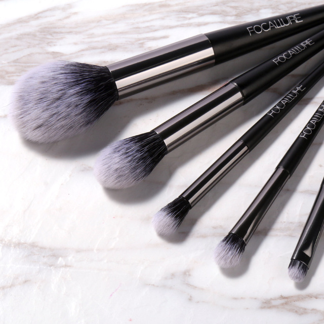 FOCALLURE 6 pcs Makeup Brush Set Professional High Quality Soft Cosmetics Blush Eyeshadow Brush for Makeup 2