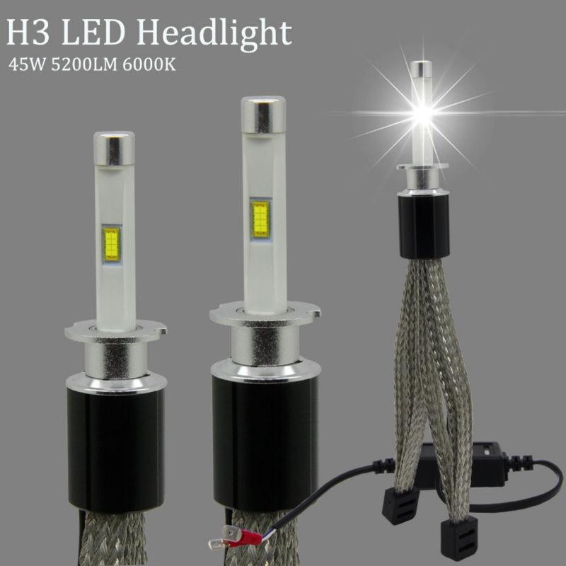 2X R4S H3 LED Bulb 45W 5200LM 6000K Headlight Bulbs TX Automotive Customized Chip Mini Car Headlights All in one Conversion Kit led телевизор panasonic tx 43dr300zz