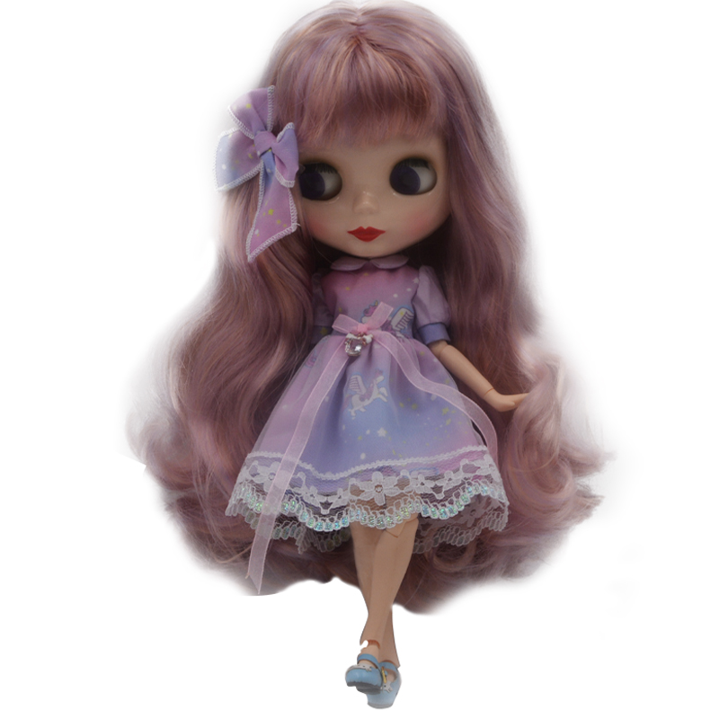 Factory Blyth BJD doll, Blyth Doll Nude Customized Shiny Face Dolls Can Chang Makeup and Dress DIY, 12 Inch Ball Jointed Doll 32 for 12 blyth doll trend white dress clothing blyth doll