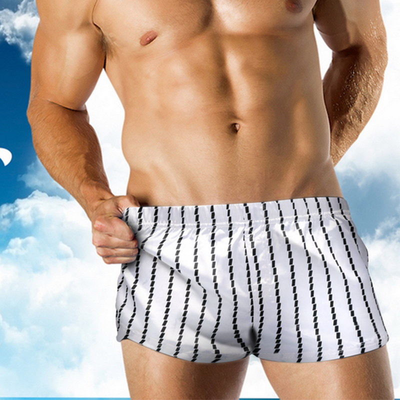 Board     Shorts   Men's Beach   Shorts   Striped Swimwear Men Sexy Swimming Trunks Bathing Suit Swimsuit Surf Bottoms Beachwear