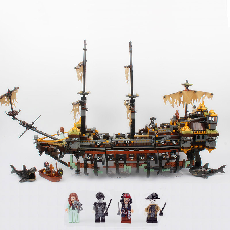 Bela 10680 The Slient Mary Pirate Ship Series Educational Building Blocks 2324pcs Bricks Toys Compatible With Legoings 71042 lepin 16042 2344pcs pirate of the caribbean ship slient mary children educational building blocks bricks compatible 71042 toys