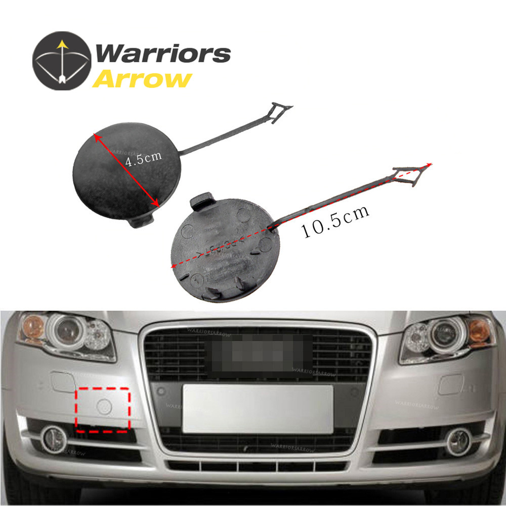 Front Bumper Eye Cover Tow Hook Cap Converison Kit for Audi A4 S4 B7 05-08
