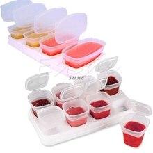 8 шт. Детские Блок Комплект контейнеры для детского питания контейнеры для ростков многоразовые Stackable чашки для хранения с подносом A20071
