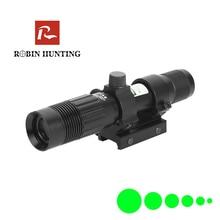 Robin Hunting Tactical 5mW Green Laser Sight Focus Adjustable Green Laser For Optics Riflescope Air Gun With 20mm Rail Mount vector optics rogue 2 6x32 aoe hunting riflescope with 25mm mount ring sunshade flipup cap