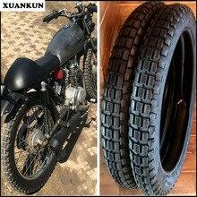 XUANKUN Ретро шины тележки для мотоциклов 3,0-18, 3,5-18 квадратные шины для внедорожников с внутренними трубками