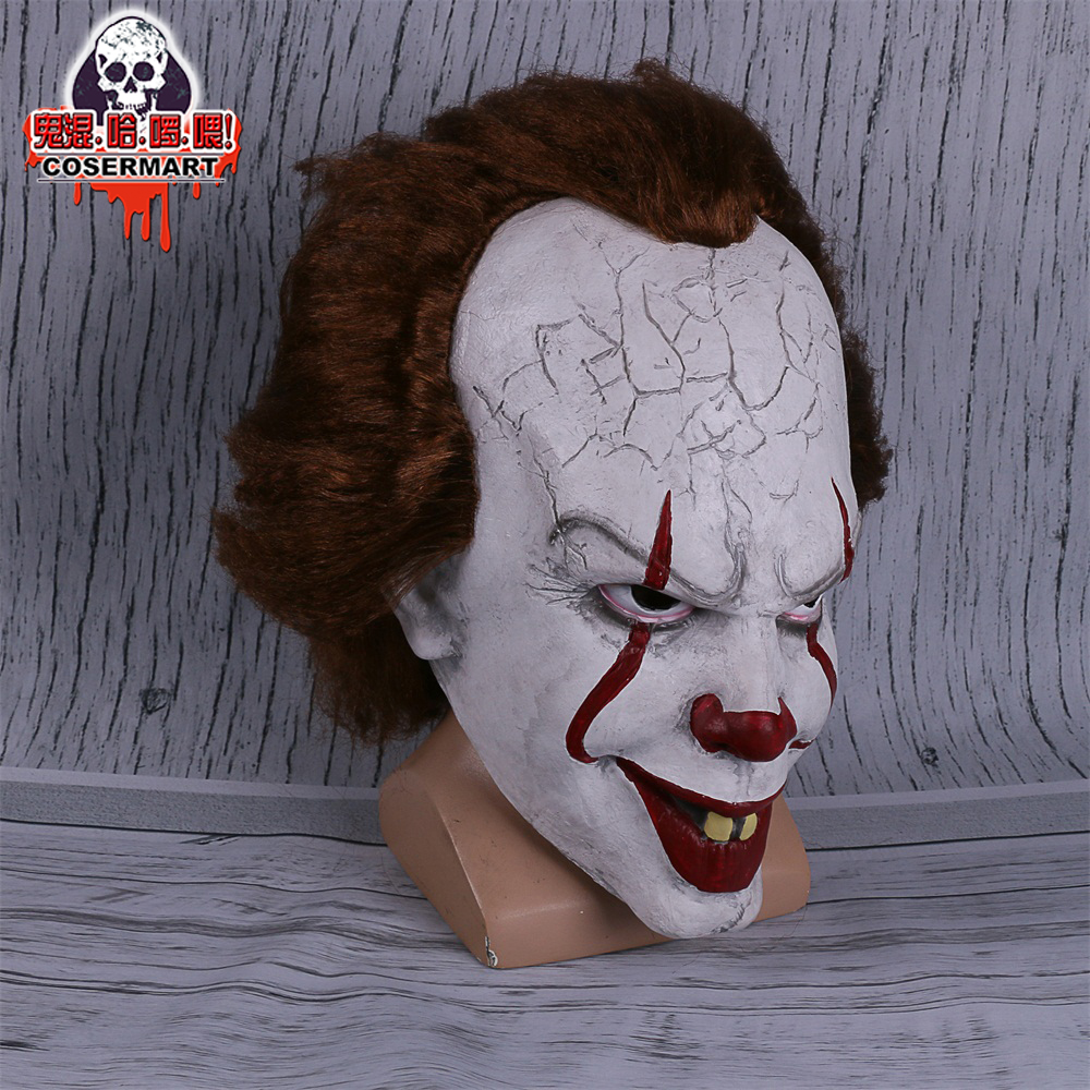 2017 Movie Stephen King's It mask Joker Mask Tim Curry Horrible Mask Cosplay Halloween Party (7)
