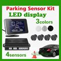 Brand New LED Display Waterproof Car Reverse Backup Radar with 4 Parking Sensors