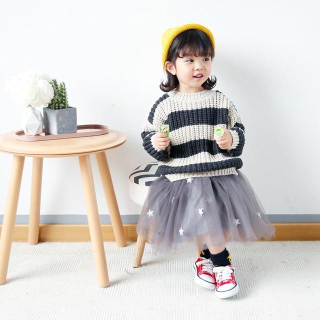 Bébé garçons filles chandails 2018 vintage style rayé enfant bébé chandails  d\u0027hiver enfants vêtements