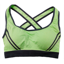 SZ-LGFM-Seamless Sport Bra Top Comfortable Bra Push up For Sports-Green