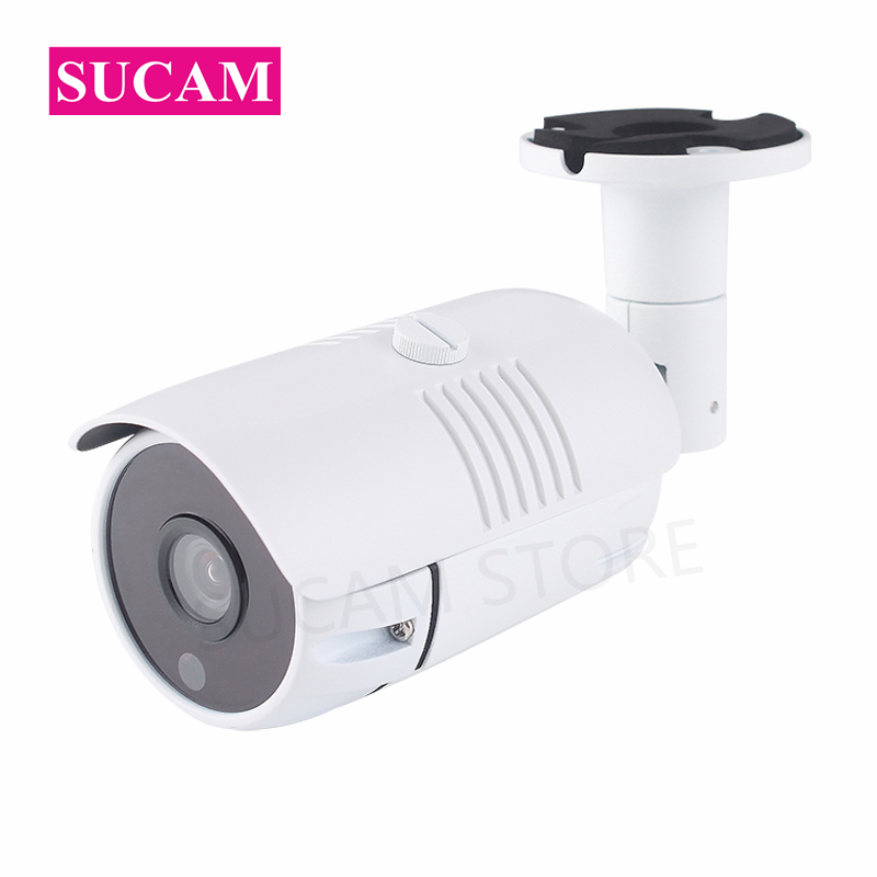 SUCAM ONVIF 2MP IP Camera P2P Outdoor Home Security Bullet Waterproof 20M IR Night Vision Surveillance Network Camera POE sucam 2mp 4mp dome h265 ip cctv camera home indoor 20m night vision security p2p onvif surveillance cameras with 6 led lights
