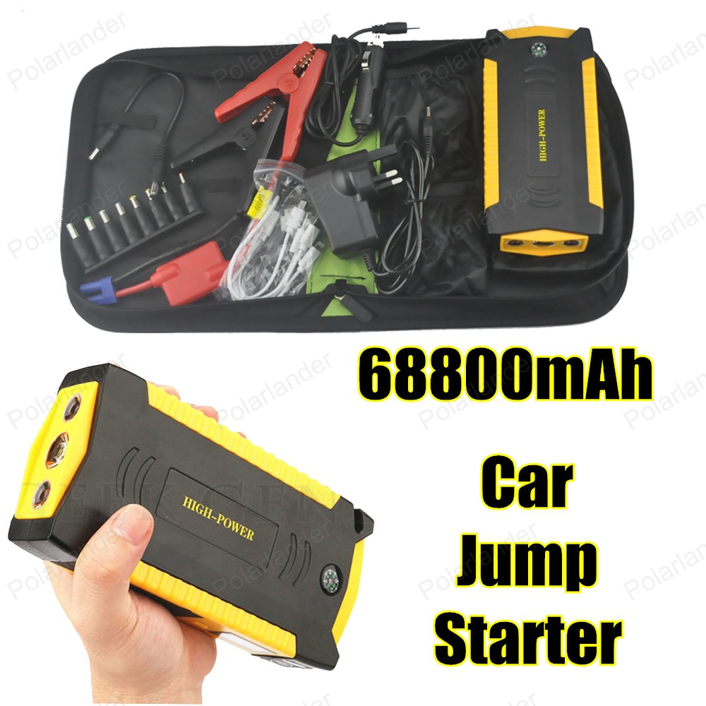 Mini portable car jump starter multi function diesel power bank bateria battery 12V 69800mAh peak car