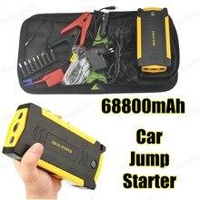 Мини портативный автомобиль скачок стартер многофункциональный diesel power bank bateria батареи 12 В 69800 мАч пик автомобильное зарядное устройство авто start booster