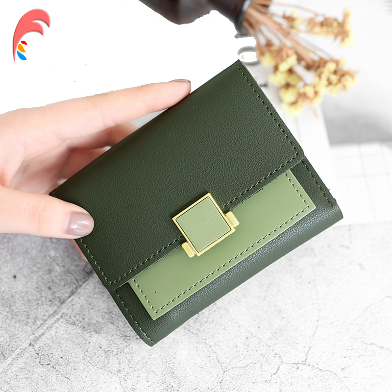 все цены на 2018 New Matte Leather Small Wallet Women Luxury Brand Designer Women Wallets Purses Female Short Coin Purse Credit Card Holder