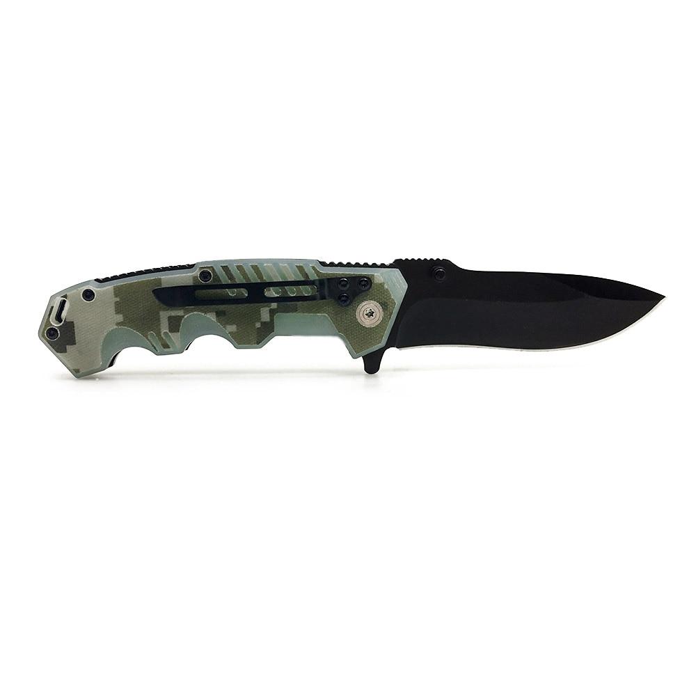 Купить с кэшбэком 217 WTT Pocket Folding Hunting Knife 7Cr17 G10 / Aluminum Tactical Survival Camping EDC Knives Outdoor Utility Multi Rescue Tool